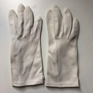 """Vintage White """"Spot"""" Gloves"""